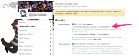 twitter security
